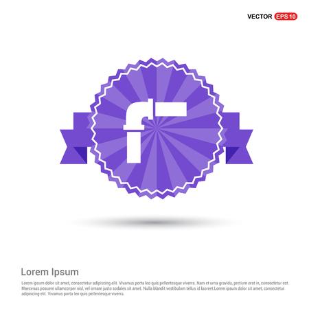 Pipe Icon - Purple Ribbon banner