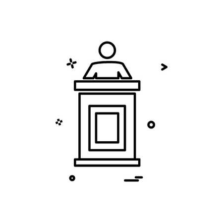 Reception icon design vector
