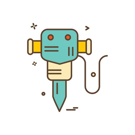 hammer jack  labor icon vector design Stock Illustratie