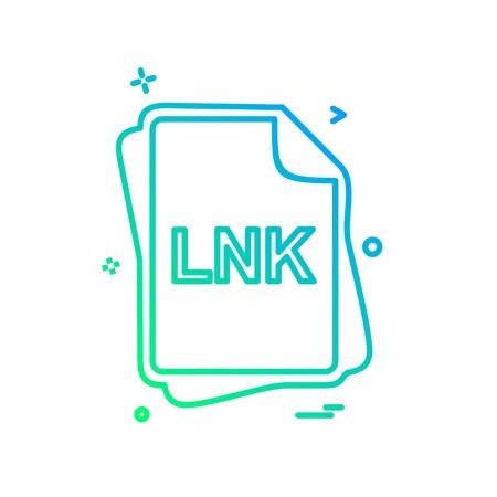 LNK file type icon design vector Vektoros illusztráció