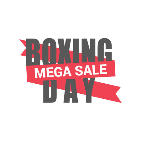 Boxing day sale card with elegent design vector