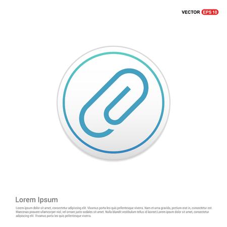 Paper clip icon - white circle button