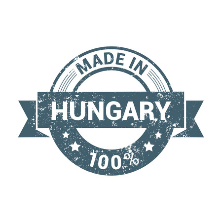 Hungary stamp design vector