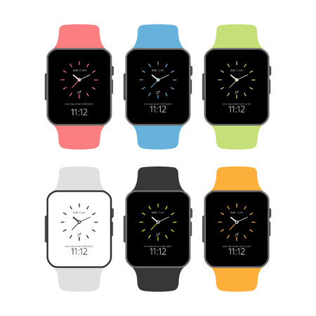 Smart Watches creative design with typography vector