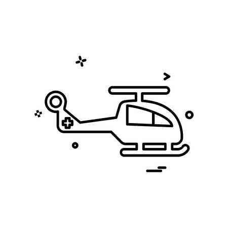 Helicopter icon design vector Vektorové ilustrace