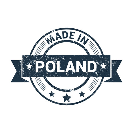 Poland stamp design vector