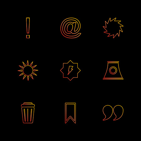 sun , dustbin , industry , shapes , electronic , time , ecology , icon, vector, design,  flat,  collection, style, creative,  icons , traingle , square , hexagon , pentagon , battery , electricity ,