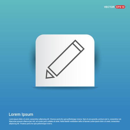 Edit, pencil icon - Blue Sticker button