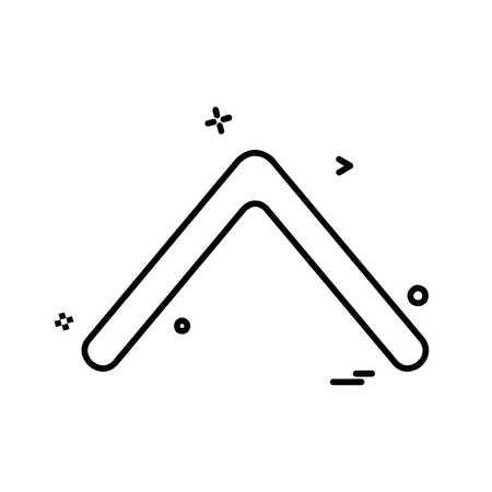 Up arrow icon design vector