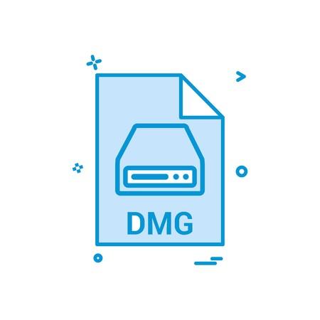 dmg file file extension file format icon vector design