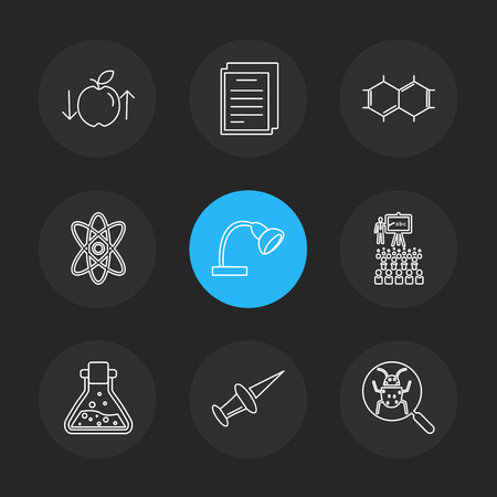 geometry , science , education , studies , physics , chemsitry , studies , code , awards , prizes , trophy , icon, vector, design, flat, collection, style, creative, icons