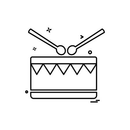 Drum icon design vector