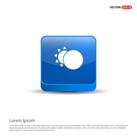 Sun, Moon Icon - 3d Blue Button.