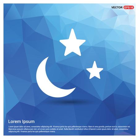 Moon, Star Icon Vectores