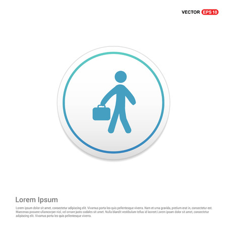 Business man Icon Hexa White Background icon template - Free vector icon