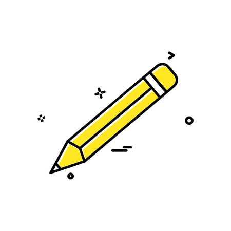 pencil school vector icon design Çizim