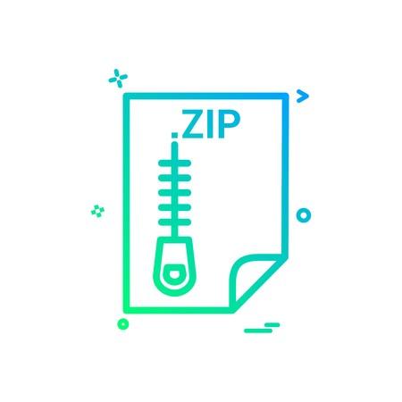ZIP application download file files format icon vector design