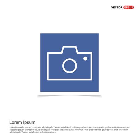 Photo camera icon - Blue photo Frame