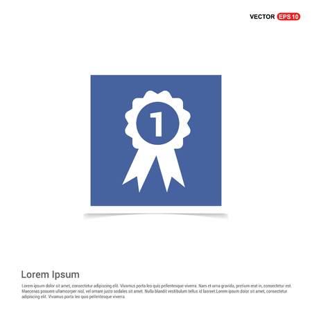 award icon - Blue photo Frame