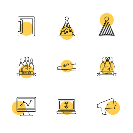 party , birthday , celebrations , anniversary , icon, vector, design,  flat,  collection, style, creative,  icons , cake , bounty , ballons, bowling , gift , money ,