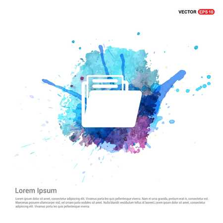 Folder icon - Watercolor Background