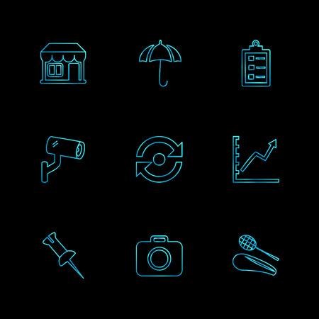 travel , destination , shopping , reset , calender , camera , sports , calcualtor , folders , globe , world ,icon, vector, design,  flat,  collection, style, creative,  icons Illustration