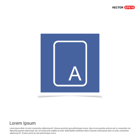 Letter Text Icon - Blue photo Frame