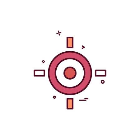 Ziel Ziel Ziel Symbol Vektor-Design Vektorgrafik