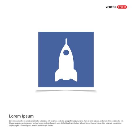 Airplane icon - Blue photo Frame
