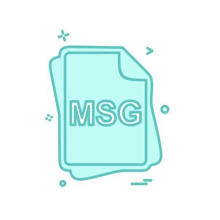 MSG file type icon design vector Illustration