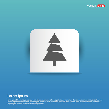X-Mas Tree Icon - Blue Sticker button