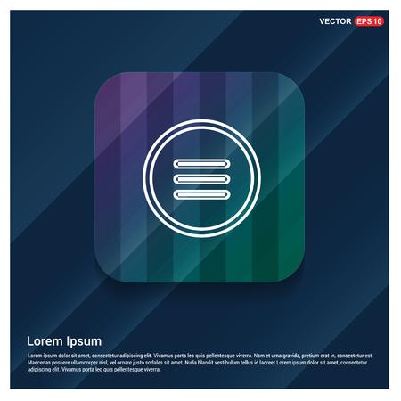 menu icon - Free vector icon