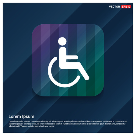 Disabled person icon Stock Illustratie