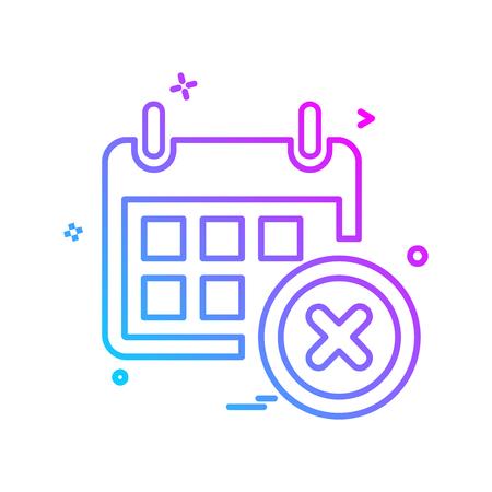 Calender icon design vector