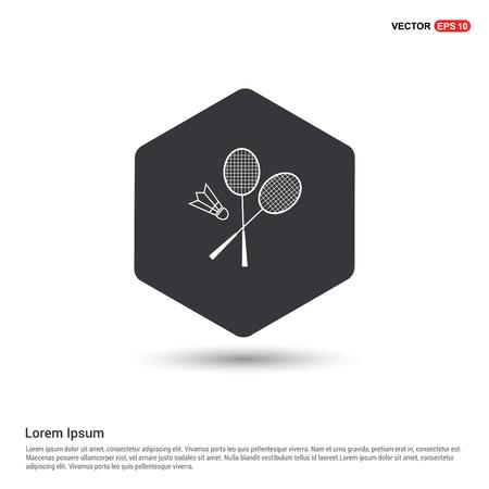 Racket Shuttlecock Icon Illustration
