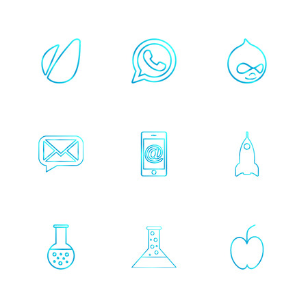 avacardo , whatsapp , message , email , mobile , rocket , apple, flask , beaker,  chemical , icon, vector, design,  flat,  collection, style, creative,  icons Illustration