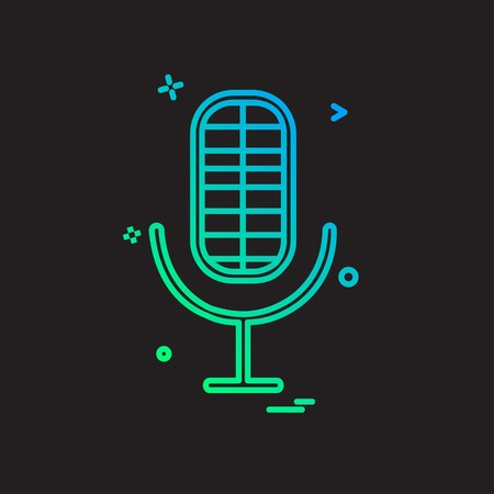 Mic icon design vector