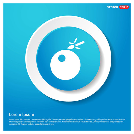 BOMB icon Abstract Blue Web Sticker Button - Free vector icon