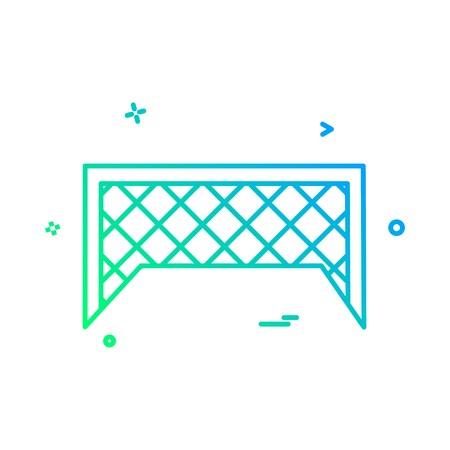 football net icon vector design