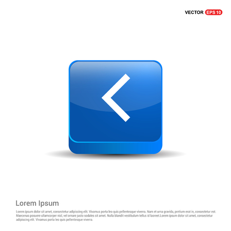 Back Icon - 3d Blue Button.