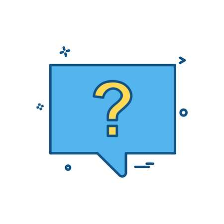 question chat sms icon vector design