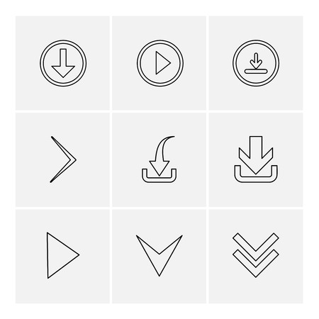 download , play, download , arrows , directions , left , right , pointer , download , upload , up , down , play , pause , foword , rewind , icon, vector, design,  flat,  collection, style, creative,  icons