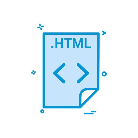 HTML application download file files format icon vector design