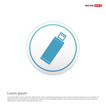 Usb Icon - white circle button