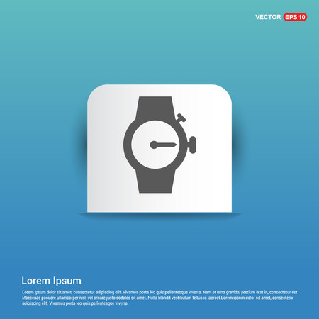 Wrist Watch Icon - Blue Sticker button