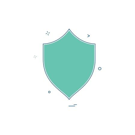 security badge saftey protect icon Vektorové ilustrace