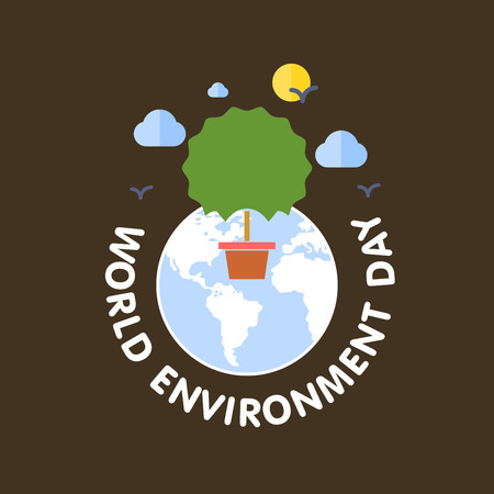 World Environment day card with light background and typography