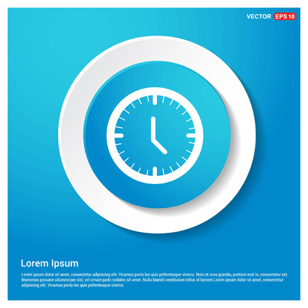 Time, clock icon Abstract Blue Web Sticker Button - Free vector icon