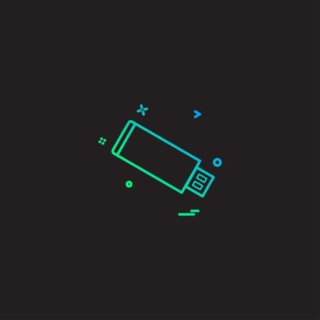 Usb device icon design vector