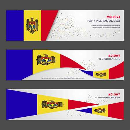 Moldova independence day abstract background design banner and flyer, postcard, landscape, celebration vector illustration